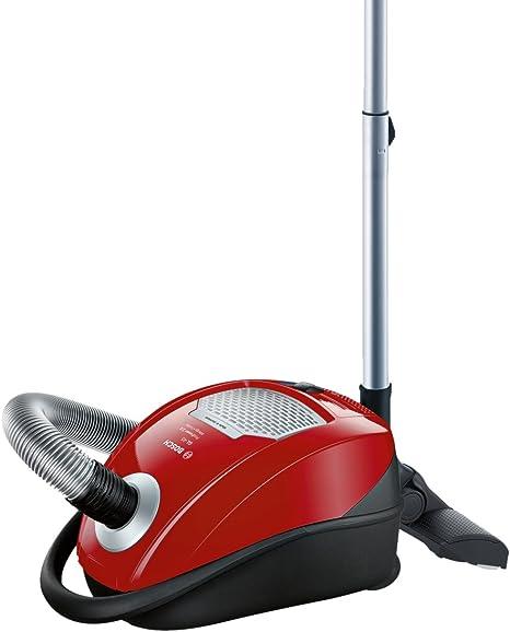 Bosch GL-45 ProPower 2.0 800 W - Aspiradora (800 W, 40 kWh, Aspiradora cilíndrica, Bolsa para el polvo, 5 L, Cereza, Metálico, Plata): Amazon.es: Hogar