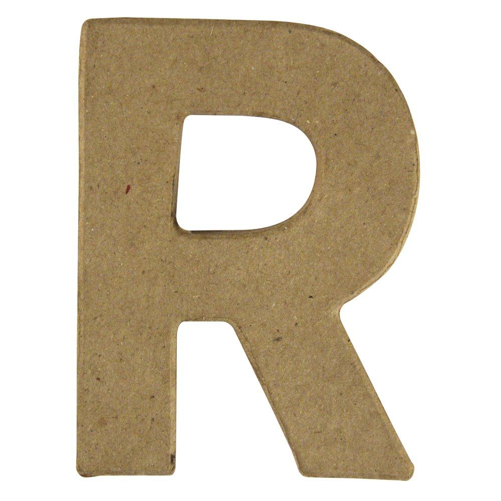 Rayher Hobby 8171800–Papier Mâché-Rayher Lettre R 10 cm/épaisseur de 1 cm
