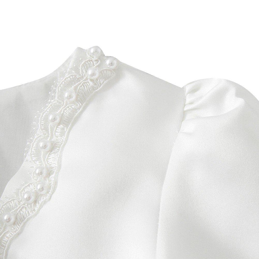 c7dace75d1c81 FEESHOW Girls Kids Beaded Long Sleeve Bolero Shrug Jacket Short Cardigan  Dress Cover up larger image