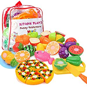 Kitchen Toys Fun Cutting Fruits Vegetables