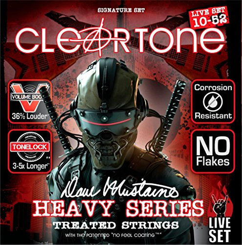 Cleartone Dave Mustaine Signature Live Set Electric Guitar Strings (Mustaine Signature Electric Guitar Strings)
