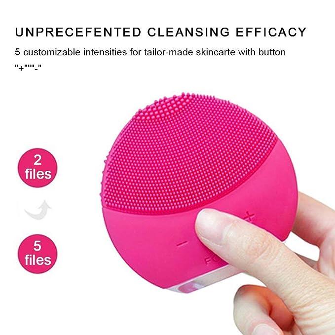 Cepillo de limpieza facial, Eater USB, silicona eléctrica, instrumento de limpieza de la piel, resistente al agua, para limpieza profunda de la piel: ...