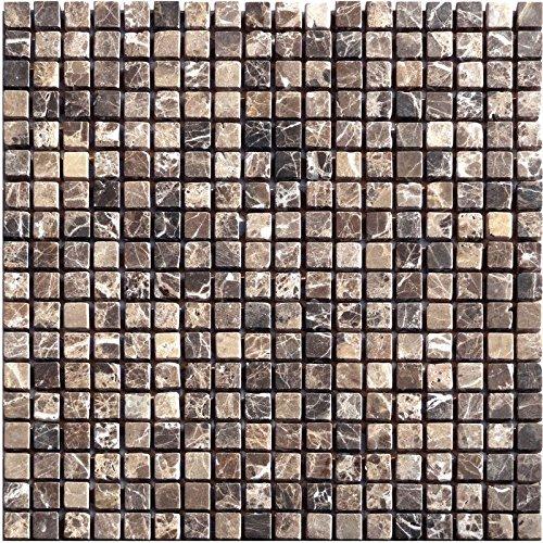 1 Brown Natural Stone Mosaic Emperador Marble Tumbled Limestone Raumdesign Heilbronn