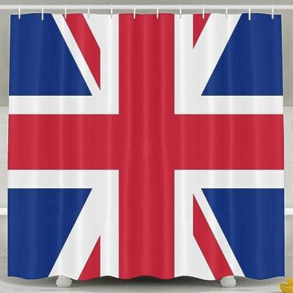 Amazon Shi Fu British Flag Cool Bath Curtain Shower