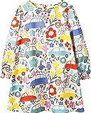 Little Girl Cute Cotton Long Sleeve Flower Tunic Dresses Size 5