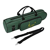 Trumpet Bag, Oxford Cloth Trumpet Gig Bag Thicken Waterproof Trumpet Carrying Case with Shoulder Belt (Green)