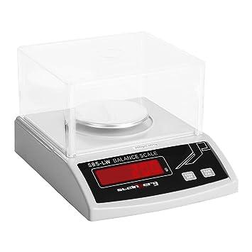 Steinberg Systems Balanza de Precisión Bascula Digital SBS-LW-200N (200 g / 0,001 g, Pantalla LED, Batería integrada 8 h): Amazon.es: Hogar