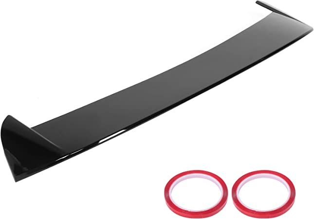 Hlyjoon Heckspoiler Dachfenster Spoiler Schwarz Heckspoiler Passend Für Seat Leon 5f Mk3 5 Tür 2013 2020 Auto