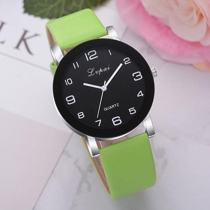 Amazon.com: Women Quartz Watches Clearance Sale,Fashion Leather Band Watch Simple Bracelet Wristwatch Alloy Analog Quartz Round Wrist Watches Gift Watches ...