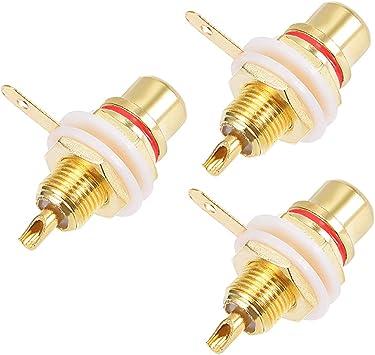 sourcingmap/® Support panneau plaqu/é Amplificateur audio Terminal Connecteur RCA femelle 10