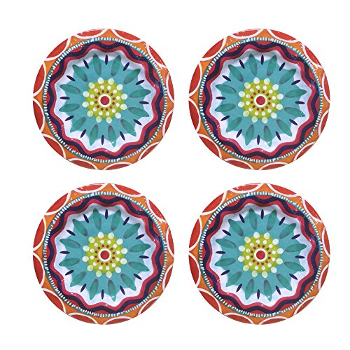 American Atelier 1184269-4D Fiesta Dinner Plate Set Diameter: 10 Inches -