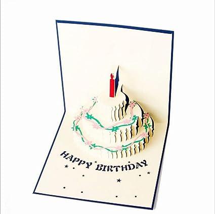 wansan 1 Pc Happy Birthday Cake tarjeta de tarjeta ...