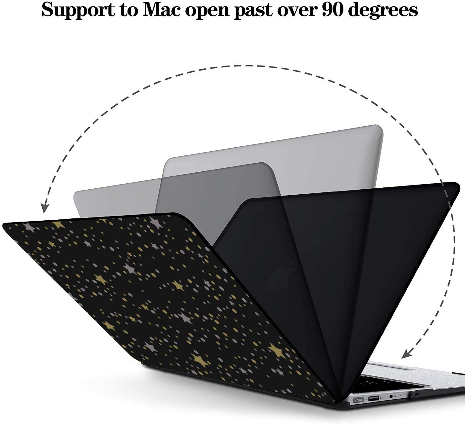 MacBook Air 13 Case Shiny Retro Noble Pentagram Sky Plastic Hard Shell Compatible Mac Air 11 Pro 13 15 MacBook 13 Case Protection for MacBook 2016-2019 Version