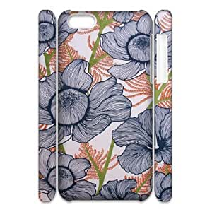 Pink Floral Custom 3D Cover Case for Iphone 5C,diy phone case ygtg571651