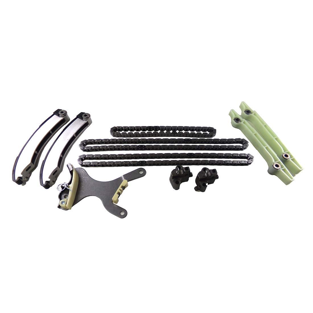 Aspen DNJ TK1102 Timing Chain Kit for 2007-2013 // Chrysler Jeep VIN P Commander Dodge Grand Cherokee Dakota Ram // 1500 Ram 1500//4.7L // SOHC // V8 // 16V // 285cid // VIN N