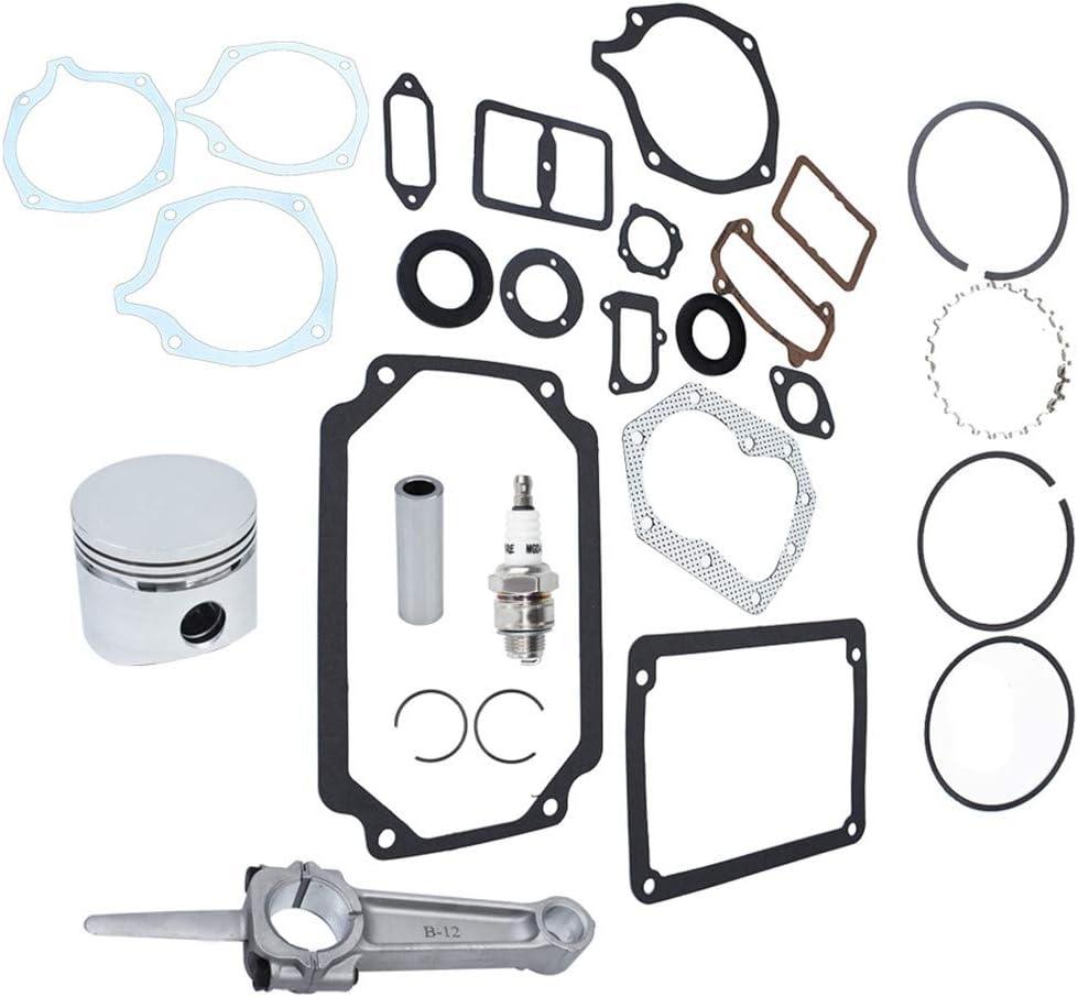 Engine Rebuild Kit Piston Ring Complete Gasket Set for Kohler K301 12HP Standard