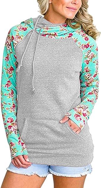 Sudaderas con Capucha Mujer Sudadera Estampadas Flores Chica Hoodies Oversize Pullover Juveniles Camisas Camisetas Manga Larga Anchas Grandes Invierno Suéter Jersey Pulóver Casual Señoras Deporte: Amazon.es: Ropa y accesorios
