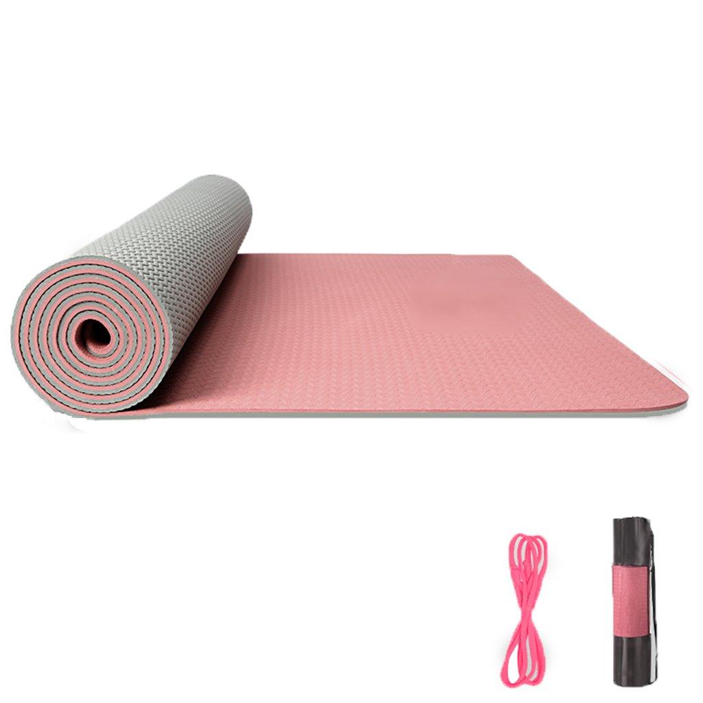 Yoga Tappetini Fitness e Palestra Tappetino Antiscivolo per Yoga su Entrambi i Lati allargamento Ispessimento per tappeti Yoga Principianti per Uomini e Donne 183cm x 80cm x 0.8cm