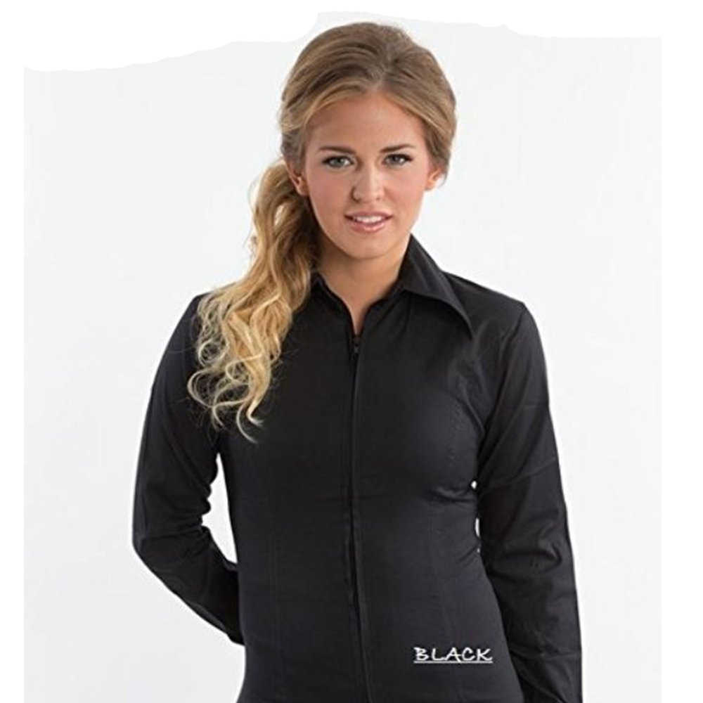 柔らかい Zip Up Fitted B013POZXGI Showシャツ B013POZXGI XX-Large|ブラック Up XX-Large ブラック XX-Large, 万糧米穀:bed73865 --- pangulfvalves.com
