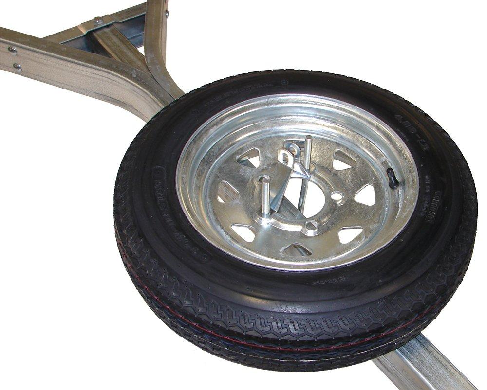 Malone Galvanized Trailer Spare Tire with Locking Attachment for MicroSport Trailer by Malone