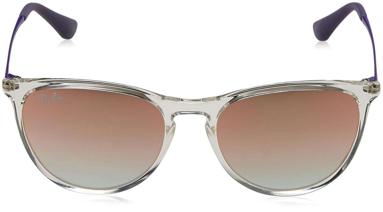 RAYBAN JUNIOR Unisex-Kinder Sonnenbrille Izzy, Transparent (Transparent/Greengradientbrownmirrorpi), 50