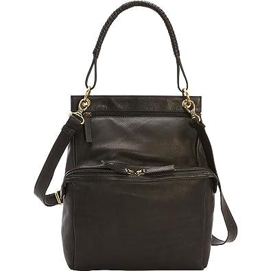 67e76e9962fa Derek Alexander N/S Two Zip Compartment Shoulder Bag (Black ...