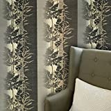 paste the wall only Embossed modern Slavyanski wallcoverings rolls floral forest trees tree pattern Vinyl Non-Woven Wallpaper grey beige gray bronze gold metallic green hue textured striped stripes 3D