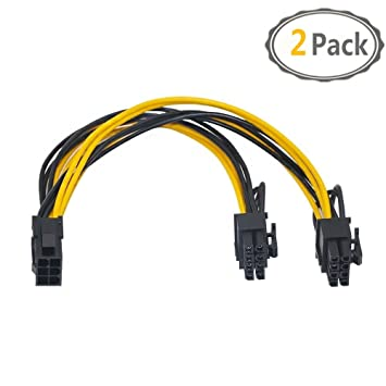 6+2 PCI-E VGA Power  Cable for EVGA SuperNOVA 1300G2 LOT 2 pcs  8 PIN TO 8 pin