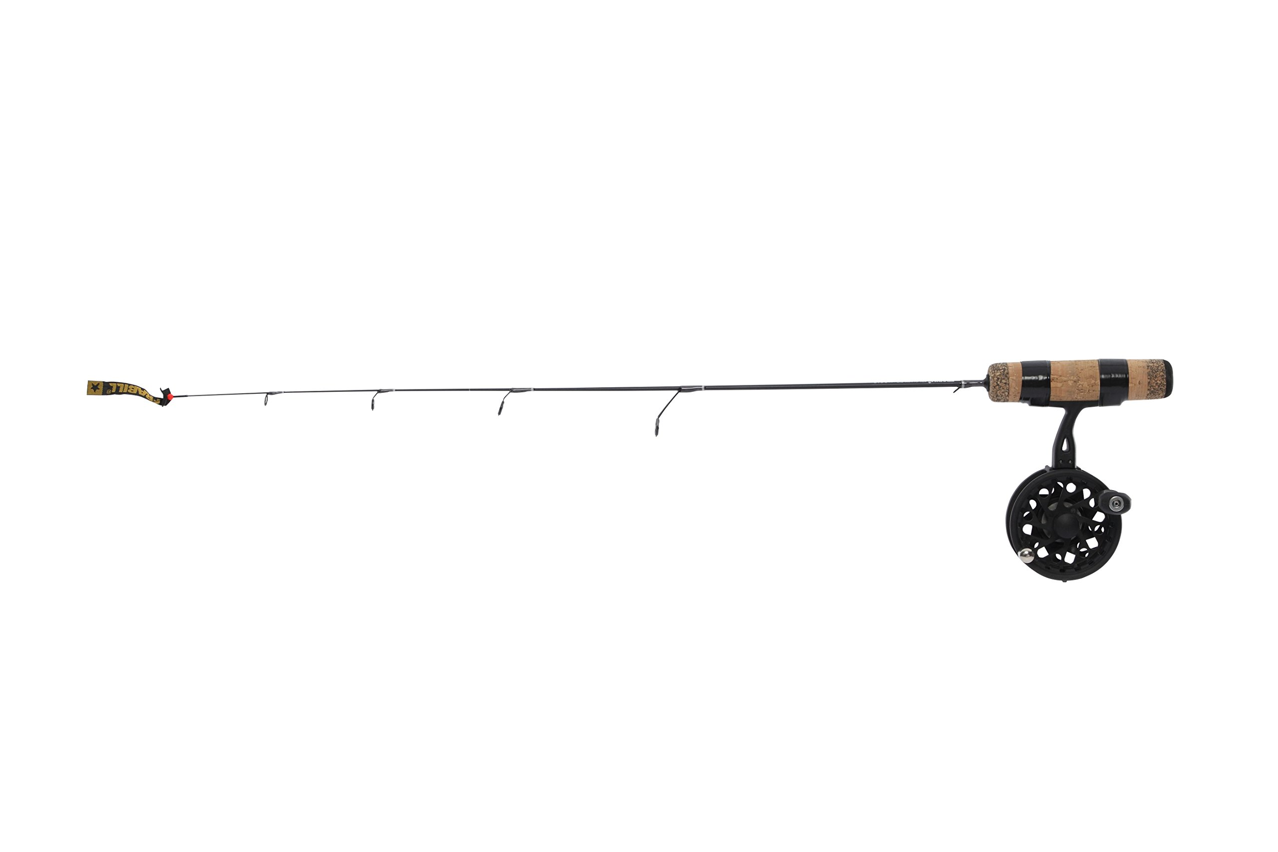 Frabill Straight Line 101XLA 32-Inch Quick Tip Ice Fishing Combo, Black