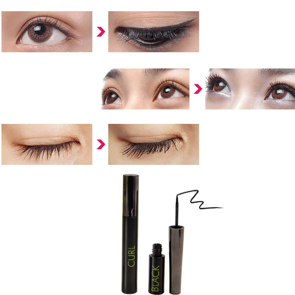 LEERYAAY Women Makeup Music Flower Waterproof Women 3D Eyeliner Curling Mascara Eye Shadow Makeup Tool by LEERYAAY (Image #1)