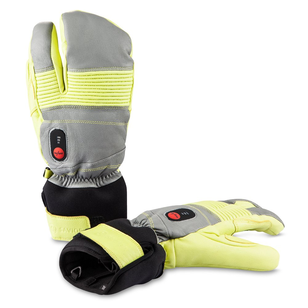 Savior Heated Gloves for Men and Women, Warm Gloves for Cycling Motorcycle Hiking Skiing Mountaineering, Works up to 2.5-6 hours (L, Green)
