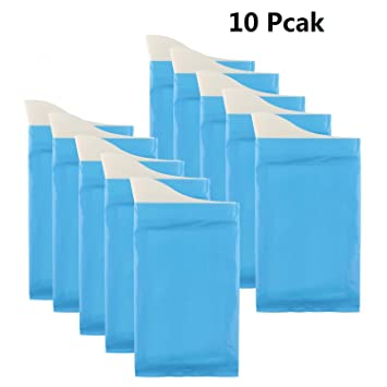 Desechables bolsas de orina, superabsorventes, inodoras, 10 unidades