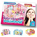 Make Your Own Dollhouse - 3D Puzzle Play Set - Ideal Gift for Girls 5-10 Educational Toys Craft for Kids - Bedroom (51 pieces)
