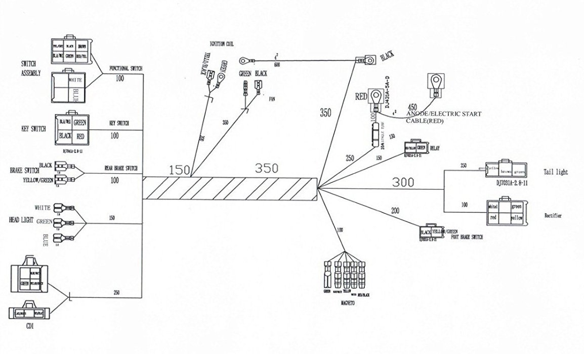 lifan 125cc motorcycle start switch wiring diagram   50