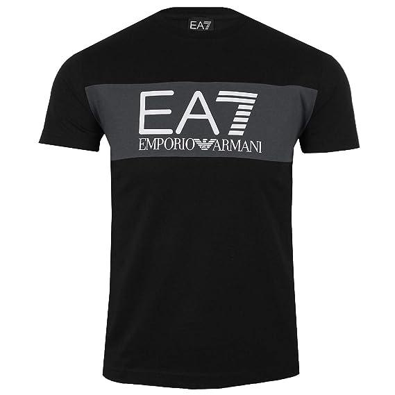 5fe4d00882d9 Emporio Armani Mens EA7 6ZPT20 Tee Shirt in Black (Medium)  Amazon.co.uk   Clothing
