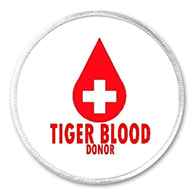 Amazon Tiger Blood Donor 3 Circle Sew Iron On Patch Funny