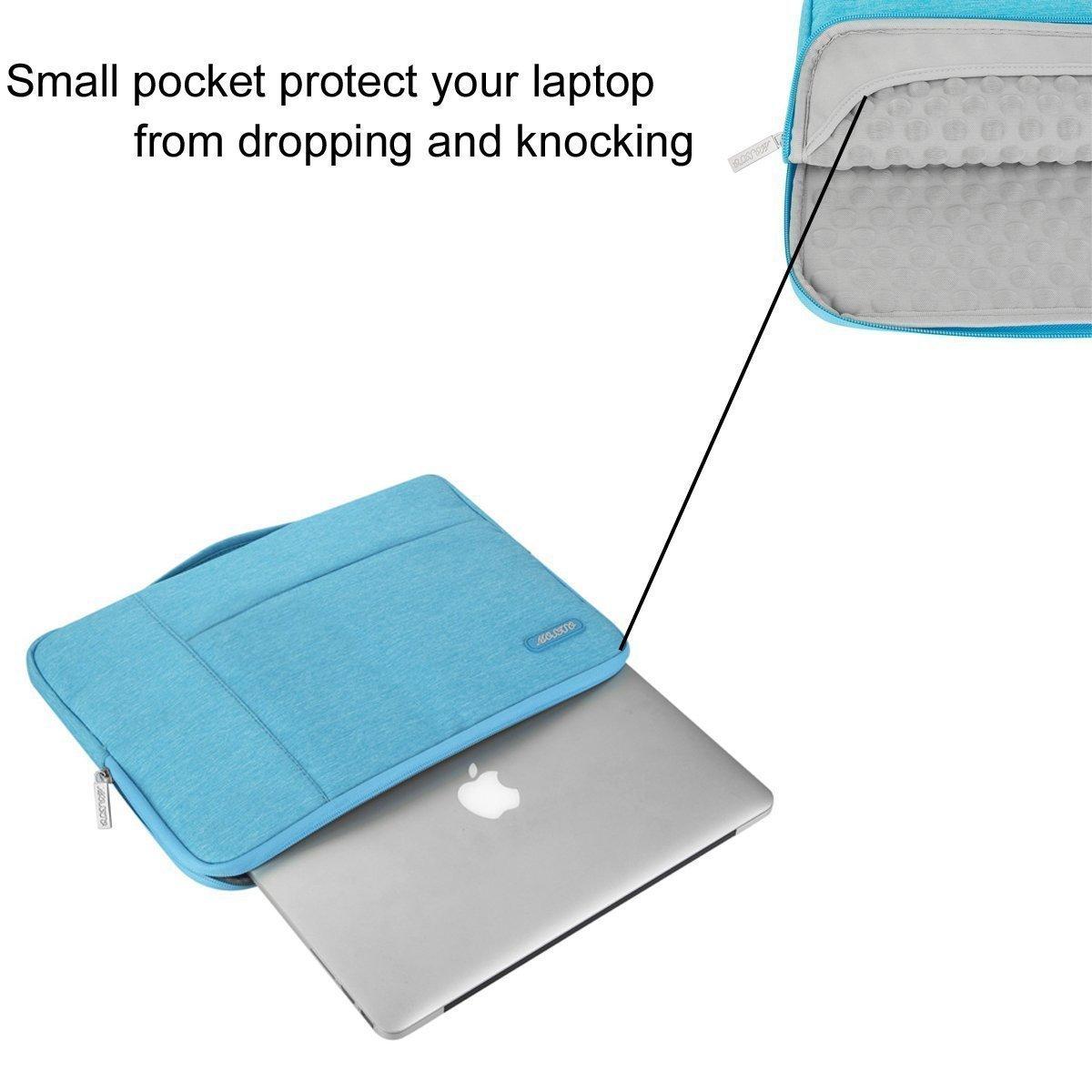 MOSISO Housse Compatible 13-13,3 Pouces Laptop Laptop Sleeve Multifonctionnel Sac /à Main en Polyester Notebook MacBook Air//Pro Bleu Chaud