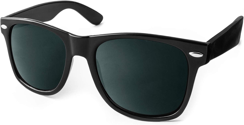 UVprotect Sonnenbrille retro Design Herren und Damen W100-Schwarz: Amazon.de: Bekleidung - Sonnenbrille billig