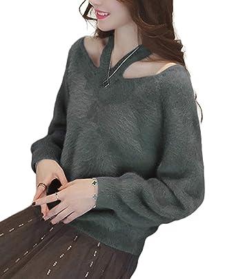 fd95fdeda4260 イノ)Yino Vネック ニット レディース トップス セーター ニットソー 厚手 秋 冬 大きいサイズ