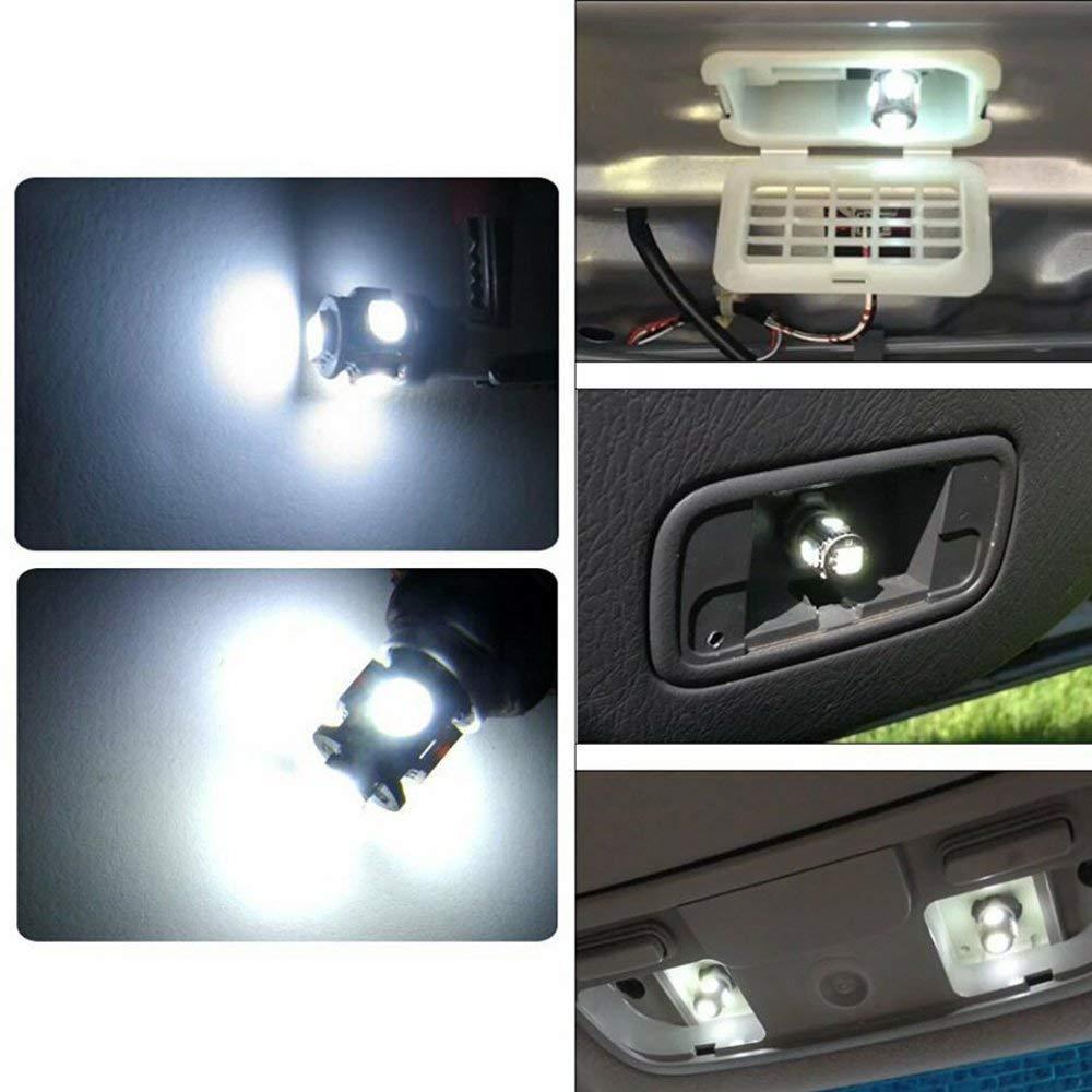 Feu De Stationnement Blanc Voiture Lampes De Lecture De Plaques MODOCA 5050 Lampes Dint/érieur 10PCS T10 LED Ampoules de Voiture Lampe 5 SMD W5W Dimmatriculation Lumi/ères 12V