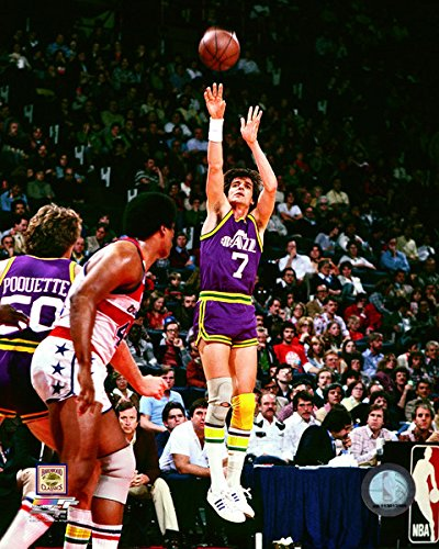 Pete Maravich New Orleans Jazz NBA Action Photo (Size: 8