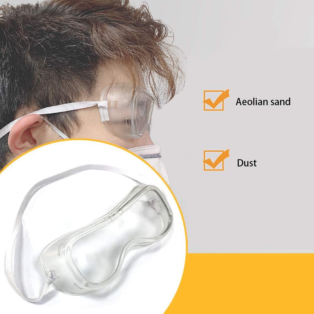 in Officina e in Bicicletta Sahgsa Occhiali di Sicurezza Protezione Antivento da Vento e Polvere per portatori di Occhiali in Laboratorio