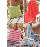 Sirdar 7749 Knitting Pattern Cushion Covers and Throws to knit in Sirdar Cotton Rich Aran by Sirdar