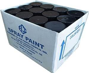 UNDURU spray paint box black matt - 400 ml - 12 pack