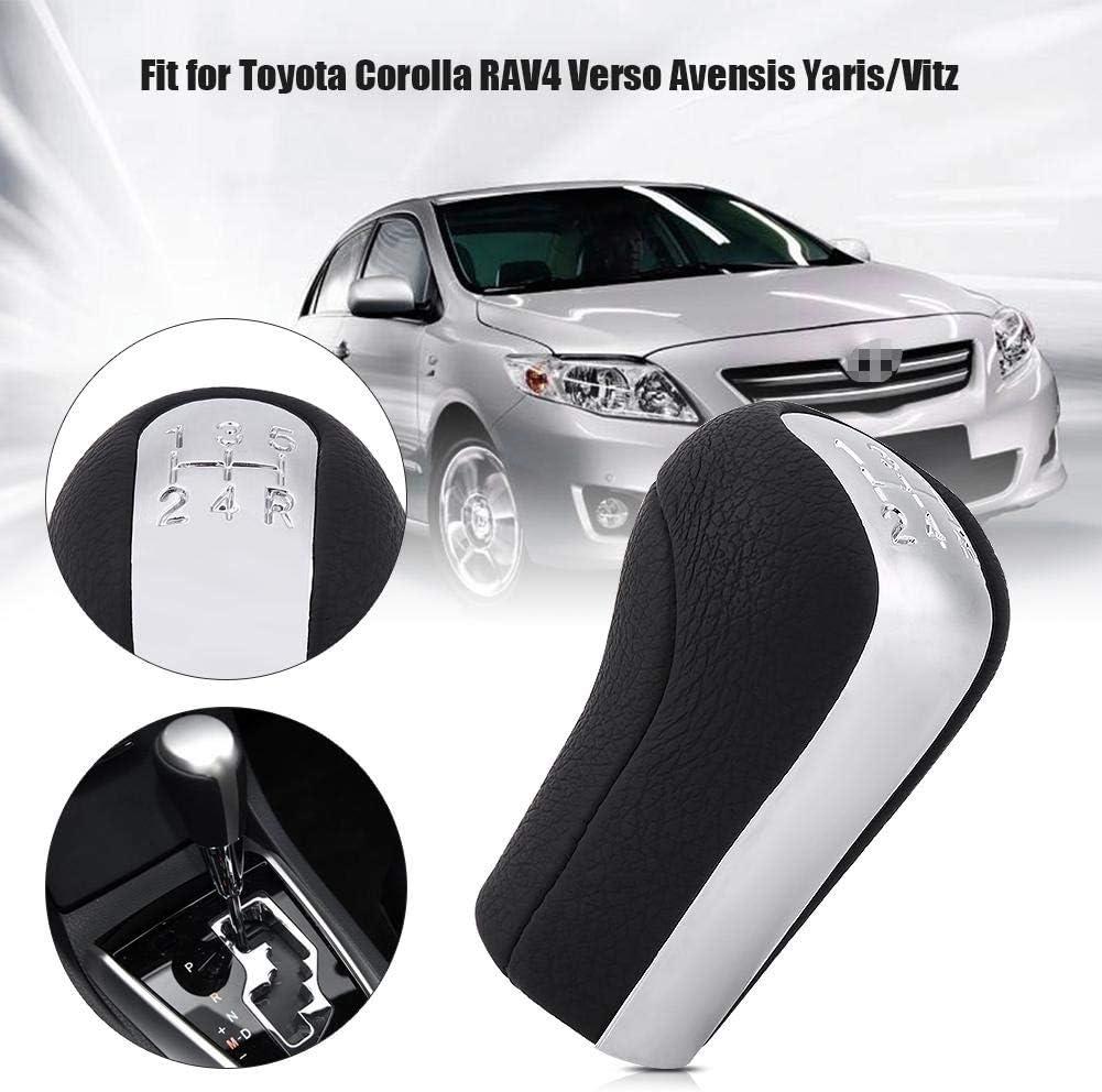 Samfox Schaltknauf Gear 5 Geschwindigkeit Auto Auto Schaltknauf Stick-Kopf-Griffhebel Kompatibel Mit Toyota Corolla Verso RAV4 Avensis Yaris//Vitz