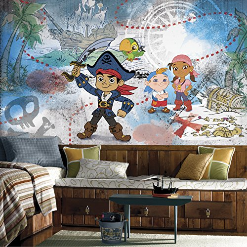 RoomMates Captain Jake & The Never Land Pirates  Removable Wall Mural - 10.5 feet X 6 feet