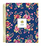 bloom daily planners 2018 Calendar Year Hard Cover Vision Planner – Monthly/Weekly Datebook Agenda Organizer – January 2018 – December 2018 – (7.5″ x 9″) – Vintage Floral