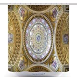 vanfan Polyester Shower Curtains Budapest Hungary February Interior Of The Cupola Roman Catholic Church St Stephen S Polyester Bathroom Shower Curtain Set With Hooks(48 x 78 inches)