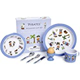 7 Piece Children's Melamine Gift Set -PIRATE