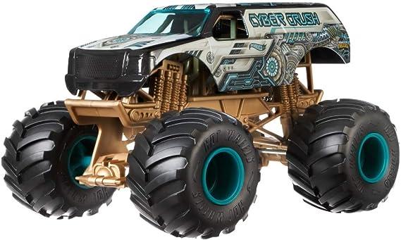 Hot Wheels Cyber Crush Monster Truck, 1:24 Scale